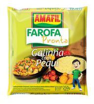 Farofa pronta  galinha com pequi Amafil 250g -