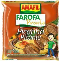 Farofa pronta picanha picante Amafil 250g -