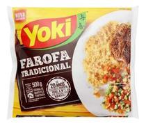 Farofa Pronta Temperada 500g Yoki P/churrasco Feijoada -