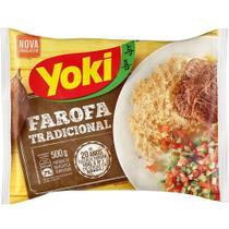Farofa Tradicional de Mandioca Temperada 500g 1 Pacote Yoki -