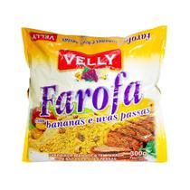 Farofa Velly Bananas Uvas Passas Mandioca Temperada 300g -