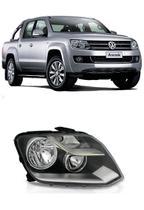 04c2216fbf Farol Amarok Foco Duplo Mascara Negra 2010 2011 2012 2013 2014 2015 -  Volkswagen