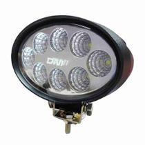 Farol Auxiliar de Trabalho Oval com 8 LEDs 24W - DNI 4165 -