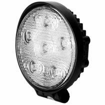 Farol Auxiliar de Trabalho Universal 6 LEDs 18W Redondo 6000K DNI -