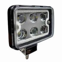 Farol Auxliar Retangular de Trabalho com Anel Luminoso Branco - 27W - DNI 4182 -