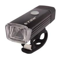 Farol Bike 180 Lumens Sinalizador Lanterna Led Preto Recarregável Usb Tsw -