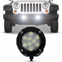 Farol de Milha Auxiliar Power LED Universal 9 LEDs 9W 12V 24V Luz Branca Autopoli -