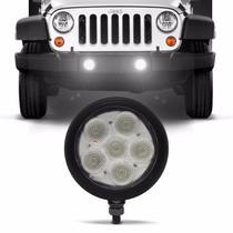 Farol de Milha Auxiliar Redondo Slim Universal 6 LEDs 12V 24V Luz Branca Original Autopoli -