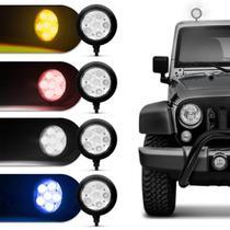 Farol de Milha Auxiliar Redondo Slim Universal 6 LEDs 12V 24V Todas as Cores Autopoli -