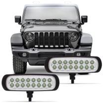 Farol de Milha Auxiliar Slim Power Universal 16 LEDs 3,2W 12V Luz Branca Autopoli -