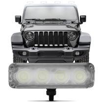 Farol de Milha Auxiliar Slim Power Universal 4 LEDs 1W 12V Luz Branca Autopoli -