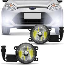 Farol de Milha Fiesta Hatch Sedan 2010 a 2014 New Fiesta 2013 a 2018 + Lâmpada Super LED 6000k - Prime