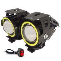 Farol de Milha LED Moto U7 6500K Luz branca Alto Baixo Neblina - LUATEK