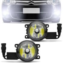Farol de Milha Super LED 6000k C3 C4 Pallas C5 09 a 12 Peugeot 207 307 06 a 13 Hoggar 10 a 13 - Tech one