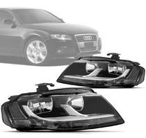 Farol Dianteiro Audi A4 2009 2010 2011 2012 Com Led - Depo