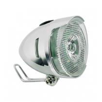 Farol Dianteiro Q-Lite LM003 LED Prata Cromado Classic Vintage - Para Paralamas -
