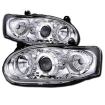 Farol Ford Escort Zetec 1997 a 2004 Projector Angel Eyes Led Cromado - Sonar