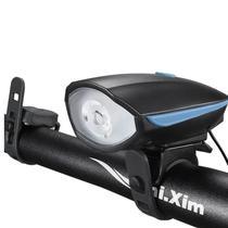 Farol LED com Buzina para Bicicleta Funcionamento À Pilha - Thata Esportes