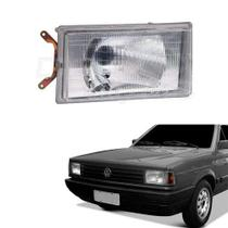Farol Lente Acrílico Vw Gol - Parati -Saveiro Gts - Voyage 1987 até 1990 Lado Esquerdo Motorista - Inov