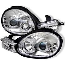 Farol Sonar  Angel Eyes Chrysler Neon 2000 a 2002 Cromado