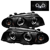 Farol Sonar Angel Eyes led Bmw E46 323i 325i 328i 330i 1999 a 2001 Máscara Negra