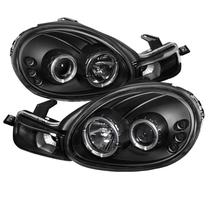 Farol Sonar Angel Eyes Led Chrysler Neon 2000 a 2002 Máscara Negra