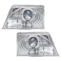 Farol Sonar Angel Eyes Led Ford Ranger 1998 a 2004 Cromado