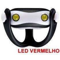 Farol Vista Light Infini I-203R Led Vermelho WUKONG Preto -