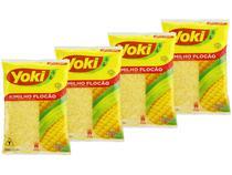 Farrinha de Milho Flocada Seca Yoki Kimilho 500g - 4 Unidades