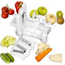Fatiador espiral cortador ralador spiralizer com 3 laminas para fazer macarrao de legumes e vegetais para mesa e bancada - KANGUR