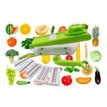 Fatiador Legumes Inox 6 Lâminas Cortador Verduras Frutas Queijos Alimentos - Penselarfun