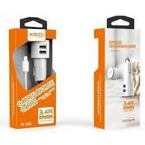 favoritos  compartilhar Carregador Veicular 2 Portas USB 5v/3.4a Com Cabo Micro USB V8 - Kd-303s - Kaidi
