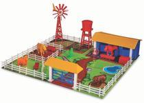 Fazendinha Brinquedo De Monta Adijomar Com Animais 3 Anos -