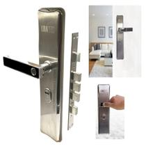 Fechadura digital biometrica eletronica em aco para porta controle seguranca impressao digital com chave de emergencia - Gimp