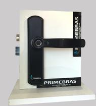 Fechadura Digital Biometrica Eletronica Primebras + Sem Chaves + Trava Preta -