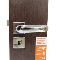 fechadura Porta interna quarto 813/09 quadrada cromada - Stam