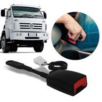 Fecho Cinto de Segurança Caminhão Volkswagen com Sensor Sonoro Haste Flexível Preto - Dialp