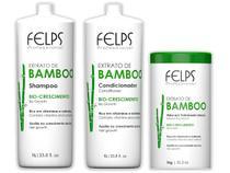 Felps Bamboo Shampoo Condicionador e Máscara 3x1000ml -