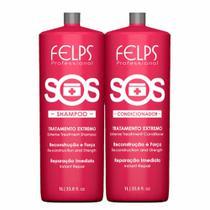 Felps s.o.s. shampoo + condicionador profissional duo 2x 1 L -