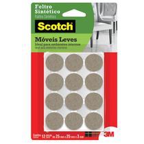 Feltro adesivo protetor móveis leves redondo pequeno 12 pçs - 3M Scotch