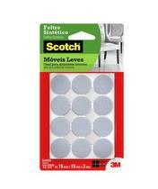 Feltro Sintético redondo pequeno 12 unidades branco 3M Scotch -