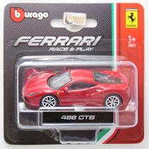 Ferrari 488 GTB Vermelha - Race & Play - 1/64 - Bburago -