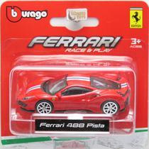 Ferrari 488 Pista - Race & Play - 1/64 - Bburago -