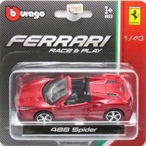 Ferrari 488 Spider - Race & Play - 1/43 - Bburago -