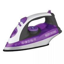 Ferro a Vapor Black  Decker X6000, Branco e Roxo, Ceramic Plus, Spray frontal, Vapor vertical, 110V