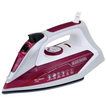 Ferro de Passar Roupas a Vapor Black and Decker Base Ceramic Gliss AJ3032 branco e lilas - Blackdecker