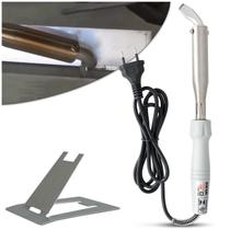 Ferro de Soldar Elétrico Hikari Power 150 140w 127v Branco Gelo Profissional -