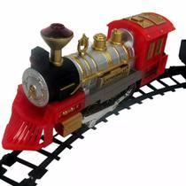Ferrorama Locomotiva Elétrica 2 Trem Máquina Trilhos Vagões - Braskit