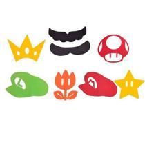 Festa Super Mário - Aplique Artesanal Super Mario Bros M - 10 Un - Magazine25