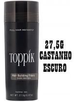 Fibra Capilar Maquiagem Para Cabelo a Base Queratina Disfarce para Calvice 27,5g - CASTANHO ESCURO - Toppik